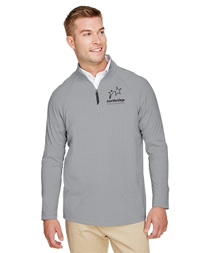 Devon & Jones CrownLux Performance™ Men's Clubhouse Micro-Stripe Quarter-Zip