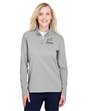 UltraClub Ladies' Coastal Pique Fleece Quarter-Zip