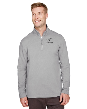 UltraClub Men's Coastal Pique Fleece Quarter-Zip