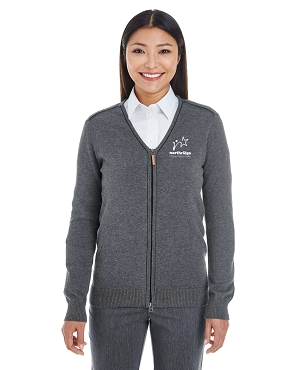 Devon & Jones Ladies' Manchester Fully-Fashioned Full-Zip Sweater